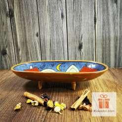 керамична фруктиера къщички