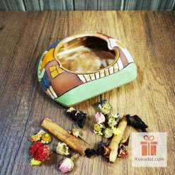 керамичен пепелник къщички