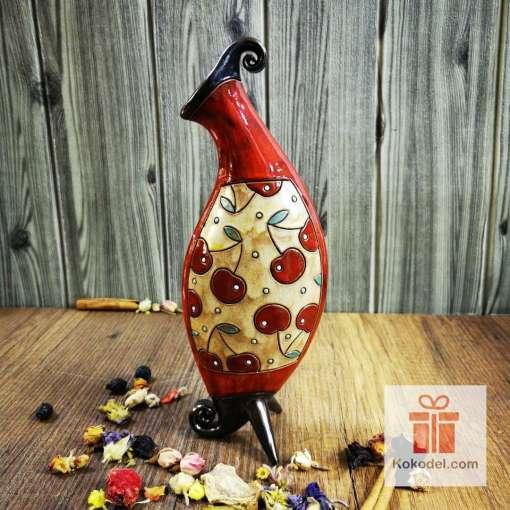 керамична ваза черешки