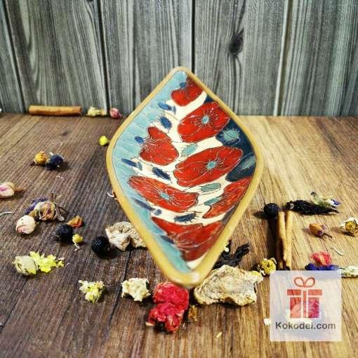 керамична фруктиера макове