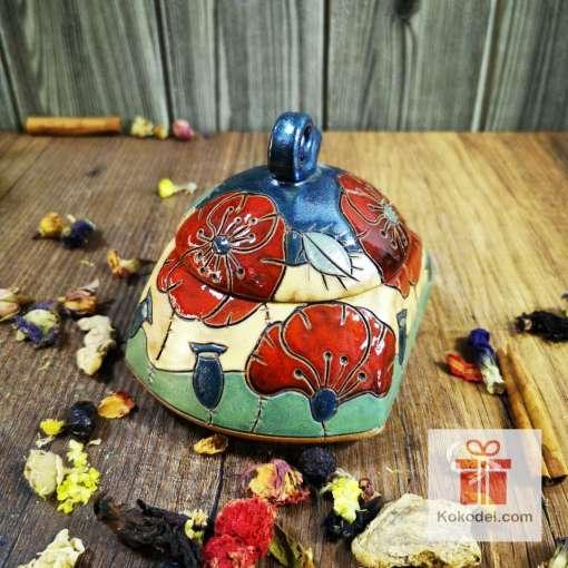 керамична кутийка-захарница
