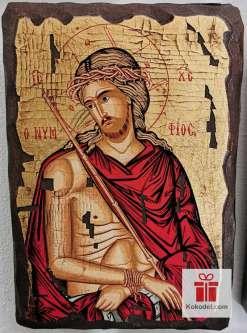 Рисувана икона 011 Исус Христос