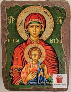 Рисувана икона 012 Св. Богородица с младенеца