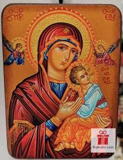 Репродукция икона 019 Св. Богородица с младенеца (с архангели)