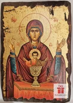 Рисувана икона 03 Св. Богородица с младенеца