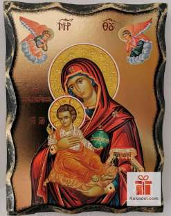 Репродукция икона 035 Св. Богородица с младенеца (с архангели)
