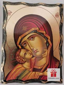 Репродукция икона 037 Св. Богородица с младенеца - Умиление