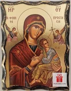Репродукция икона 038 Св. Богородица с младенеца (с архангели)