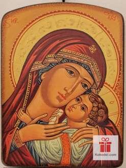 Репродукция икона 040 Св. Богородица с младенеца - Умиление