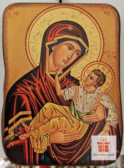 Репродукция икона 041 Св. Богородица с младенеца
