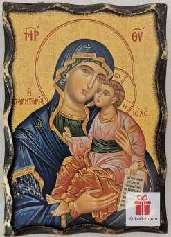 Репродукция икона 042 Св. Богородица с младенеца - Умиление