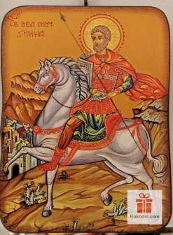 Репродукция икона 043 Св. Мина - Покровител на семейството