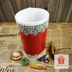керамична ваза елеганс червена