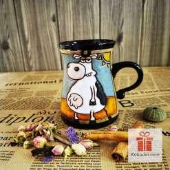 Забавна керамична чаша Крава 2