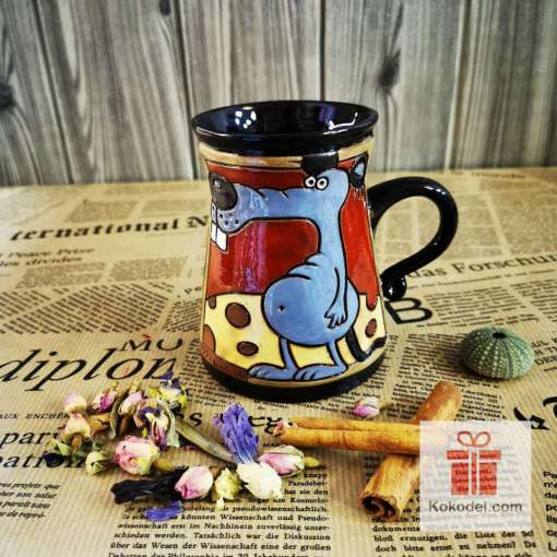 Забавна керамична чаша Мишле