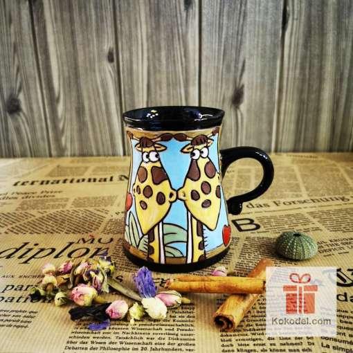 Забавна керамична чаша Жираф