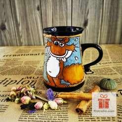 Забавна керамична чаша Зашеметена катерица