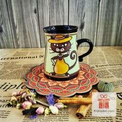 Забавна керамична чаша Жената-котка