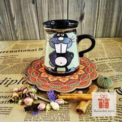 Забавна керамична чаша Заек