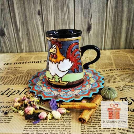 Забавна керамична чаша Петел