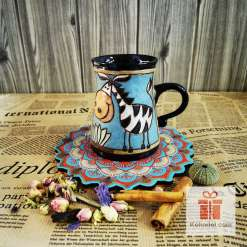 Забавна керамична чаша Зебра