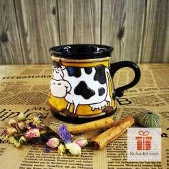 Забавна керамична чаша Крава 1