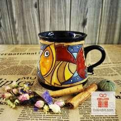 Забавна керамична чаша Рибка 2
