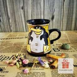Забавна керамична чаша Пингвин