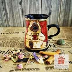Забавна керамична чаша Мечка