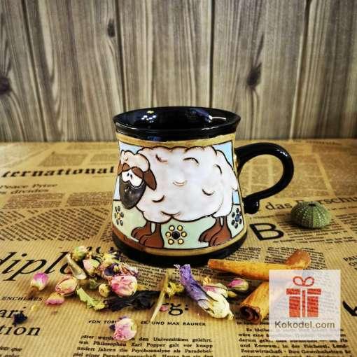 Забавна керамична чаша Овца