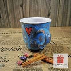 Арт синя чаша Жаба кралица