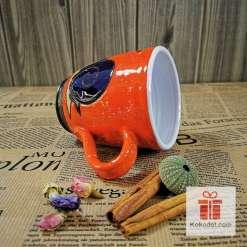 Арт оранжева чаша Охлюв