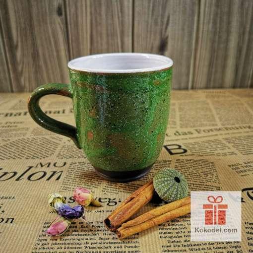Арт зелена чаша Охлюв