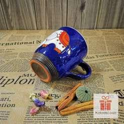 Арт керамична чаша Слонче - нощ