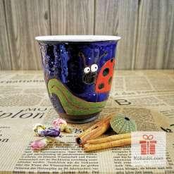 Арт керамична чаша Калинка - нощ