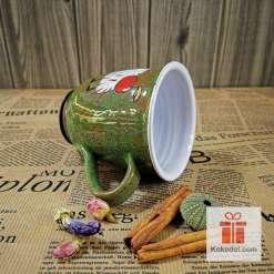 Арт зелена чаша Таралеж