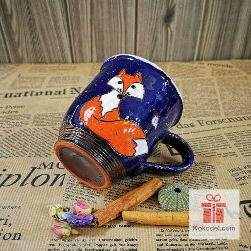 Арт керамична чаша Лисичка - нощ