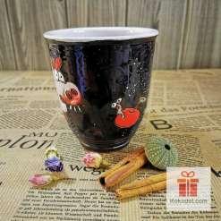 Арт чаша Прасенце - нощ