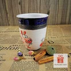 Арт керамична чаша Прасчо - ден