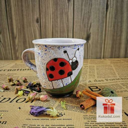 Арт керамична чаша Калинка - ден
