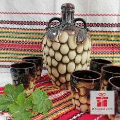 Комплект за вино - Чепка грозде