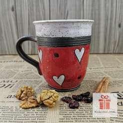 Арт чаша Любов - червена