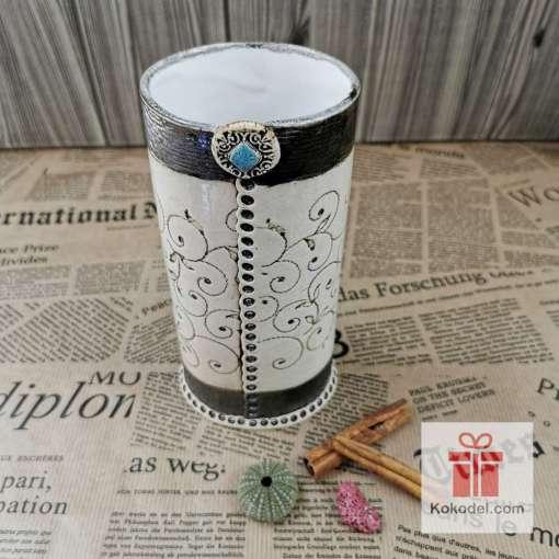 Керамична ваза Елеганс - коприна