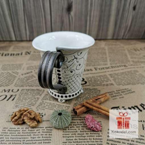 Чаша за кафе Елеганс - коприна