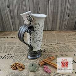 Голяма чаша за кафе или чай Елеганс - коприна