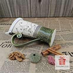 Чаша за кафе или чай Елеганс - зелена