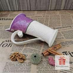 Чаша за кафе или чай Елеганс - пърпъл