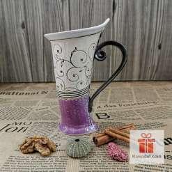 Чаша за кафе или чай Елеганс - коприна пърпъл