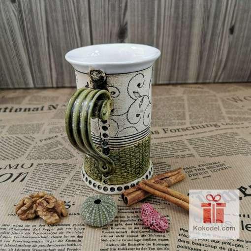 Чаша за чай Елеганс - зелена