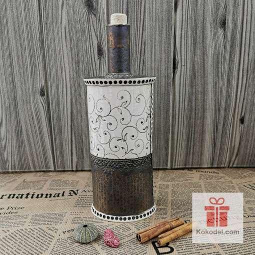 Керамична бутилка Елеганс - коприна copper